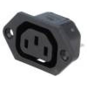 Konektor IEC 60320,napájecí AC C13 (F), V-lock zásuvka 10A