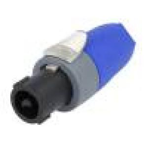 Zástrčka SpeakON zásuvka 2PIN na kabel 30A 250V 1,5-4mm2