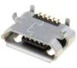 Zásuvka USB B micro na PCB SMT PIN:5 vodorovné V: USB 2.0