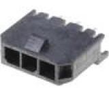 Zásuvka kabel-pl.spoj vidlice 3mm 3PIN Glow-Wire pocínovaný