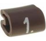 Kabelové značky pro kabely a vodiče Symbol štítku:1 2-3,2mm