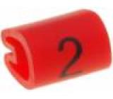 Kabelové značky pro kabely a vodiče Symbol štítku:2 2-3,2mm