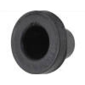 Průchodka Pr.mont.otv:21mm pryž černá Tl.panelu max2mm d:8mm