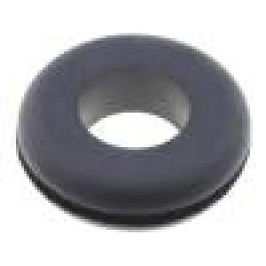 Průchodka Ømont.otv: 20,8mm Øotv: 12,7mm pryž černá