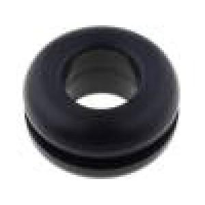 Průchodka Pr.mont.otv:11mm Pr.otv:7mm pryž černá