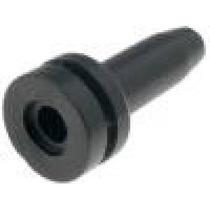 Ochrana proti zlomu Pr.otv:3mm PVC černá Tl.panelu max2mm