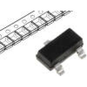 2N7002 Tranzistor N-MOSFET unipolární 60V 800mA 200mW SOT23