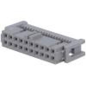 Zástrčka IDC zásuvka PIN:20 IDC na plochý kabel 1,27mm 4,25A