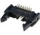 Zásuvka IDC vidlice PIN:16 úhlové 90° THT zlacený 2,54mm