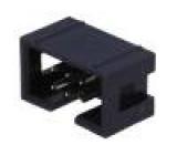 Zásuvka IDC vidlice PIN:6 přímý THT zlacený 2,54mm