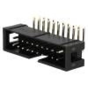 Zásuvka IDC vidlice PIN:20 úhlové 90° THT zlacený 2,54mm