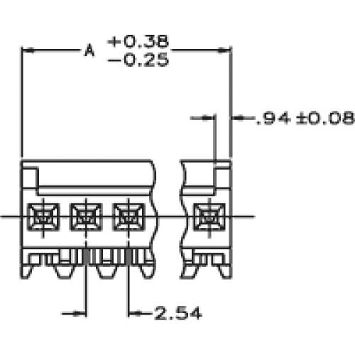 Konektor kabel-pl.spoj MTA-100 zástrčka zásuvka 5 PIN 2,54mm