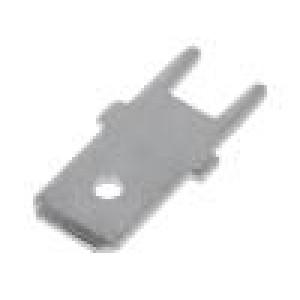Konektor plochý 6,3mm 0,8mm kolík THT pocínovaný mosaz