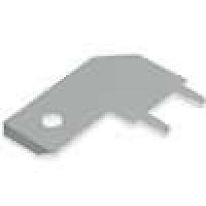 Konektor plochý 6,3mm 0,8mm kolík THT mosaz pocínovaný