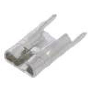 Konektor plochý 6,3mm 0,8mm zásuvka THT mosaz pocínovaný