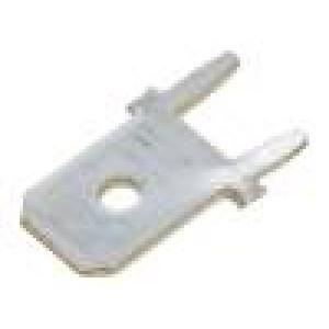 Konektor plochý 6,3mm 0,8mm kolík THT Celk.dél:13,5mm přímý