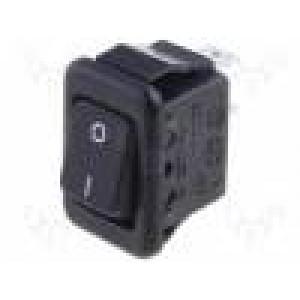 ROCKER 2 polohy SPST ON-OFF 3A/250VAC černá 20mΩ UL94V-2