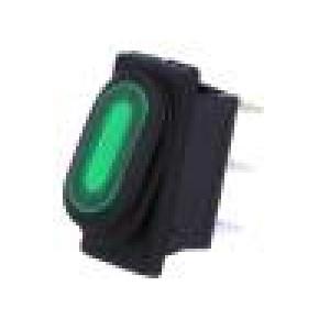 ROCKER 2 polohy SPST ON-OFF 10A/250VAC   IP65 doutnavka
