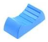 Knoflík - jezdec barva modrá 24x11x10mm Mat plast