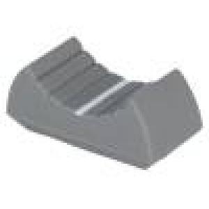 Knoflík - jezdec barva šedá 24x11x10mm Mat plast