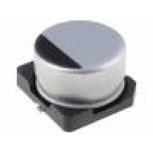 Kondenzátor elektrolytický SMD 1uF 50V Ø4x5,4mm ±20% 2000h