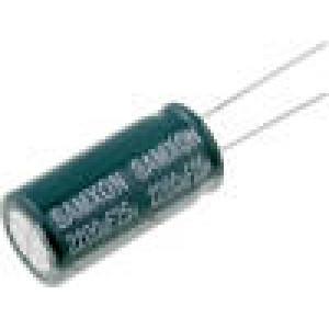 Kondenzátor elektrolytický s nízkou impedancí THT 2200uF 25V