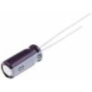 Kondenzátor elektrolytický THT 2,2uF 50V Ø5x11mm ±20% 2000h