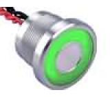 Přepínač piezoelektrický 1-polohové SPST-NO 0,2A/24VAC IP68