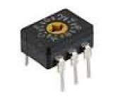 Kódový přepínač HEX/BCD Polohy:16 THT Rkont max:200mΩ 1Ncm