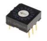 Kódový přepínač HEX/BCD Polohy:16 THT Rkont max:200mΩ