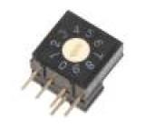 Kódový přepínač DEC/BCD Polohy:10 THT Rkont max:200mΩ