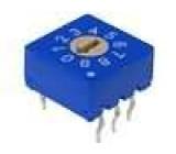 Kódový přepínač DEC/BCD Polohy:10 THT Rkont max:100mΩ 5Ncm