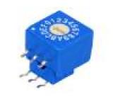 Kódový přepínač HEX/BCD Polohy:16 THT Rkont max:100mΩ 5Ncm