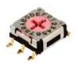 Kódový přepínač HEX/BCD Polohy:16 SMT Rkont max:100mΩ 5Ncm