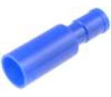 Konektor kulatý kolík d:4mm 2mm2 krimpovací na kabel 20A