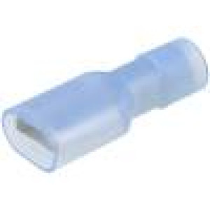 Konektor plochý 6,3mm 0,8mm zásuvka 2mm2 krimpovací na kabel
