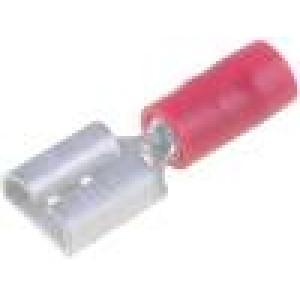 Konektor plochý 6,3mm 0,8mm zásuvka 0,75-1,25mm2 krimpovací