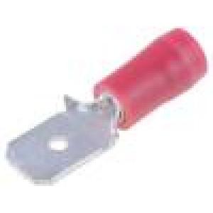 Konektor plochý 6,3mm 0,8mm kolík 0,75-1,25mm2 krimpovací