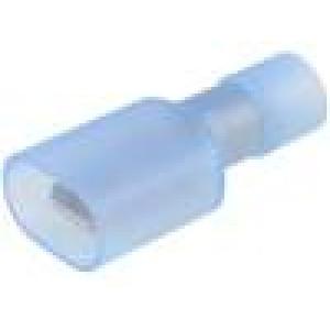 Konektor plochý 6,3mm 0,8mm kolík 2mm2 krimpovací na kabel