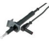 PJ5949-120-B Měřicí šňůra silikon 1,2m černá 20A Max.odp.kont:22mΩ