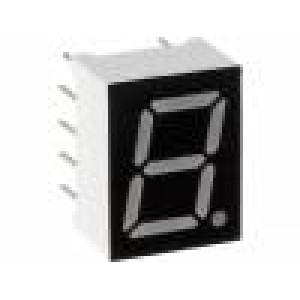 LED display jednomístný 7-segmentový