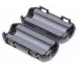 Ferit dvoudílný na kulatý kabel Ø:7mm 150Ω A:20mm B:20mm