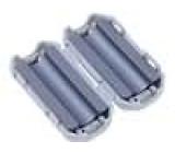Ferit dvoudílný na kulatý kabel A:25mm B:20mm C:5mm D:12,8mm