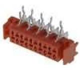 Konektor Micro-MaTch zásuvka 10 PINúhlové 90° THT