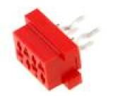 Konektor Micro-MaTch zásuvka 4 PIN přímý THT 1,5A