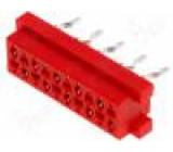 Konektor Micro-MaTch zásuvka 10 PIN přímý THT 1,5A