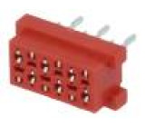 Konektor Micro-MaTch zásuvka PIN:6 přímý THT 1A 30V