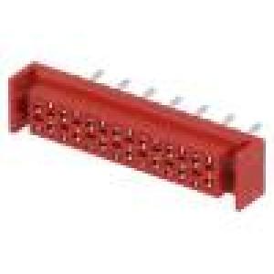 Konektor Micro-MaTch zásuvka PIN:20 přímý THT 1A 30V