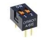 Přepínač DIP-SWITCH Počet sekcí:2 ON-OFF 0,025A/24VDC 100MΩ