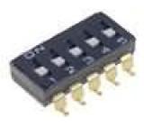 Přepínač DIP-SWITCH Počet sekcí:5 ON-OFF 0,025A/24VDC 100MΩ